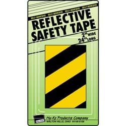 Picture of Reflective Safety Tape -Yellow/Black Stripe