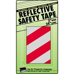 Picture of Reflective Safety Tape -Red/Silver Stripe