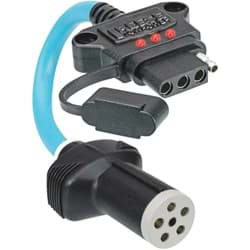 Picture of Reese Towpower Professional 6-Pin Round to 4-Flat Flex Plug-In Adapter with LED Tester