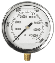 "Picture of Gauge Liquid Filled 2-1/2"" Steel - 10Kpsi"