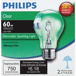 Picture of Philips EcoVantage A19 Medium Halogen Light Bulb