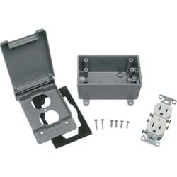 Picture of Red Dot Weatherproof Electrical Box Outdoor Outlet Kit