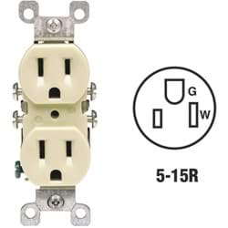 Picture of Leviton Copper/Aluminum Duplex Outlet