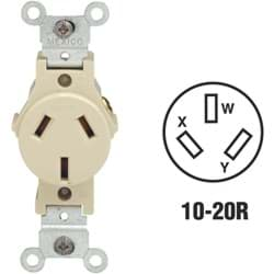 Picture of Leviton Commercial Grade Non-Grounding Single Outlet