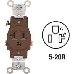 Picture of Leviton Commercial Grade Shallow Single Outlet