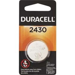 Picture of Duracell 2430 Lithium Coin Cell Battery