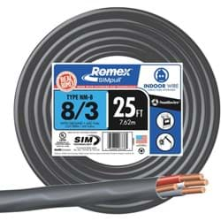 Picture of Romex 8-3 NMW/G Wire