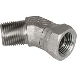 "Picture of Apache 45-Degree Male x Female Hydraulic Hose Adapter - 1/2"" x 1/2"""