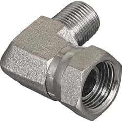 "Picture of Apache 90-Degree Male x Female Hydraulic Hose Adapter - 3/8"" x 3/8"""