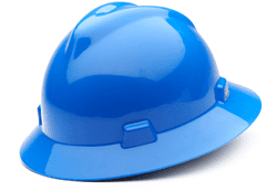 Picture of Hard Hat Full-Brim w/ Fas-Trac Suspension – Blue