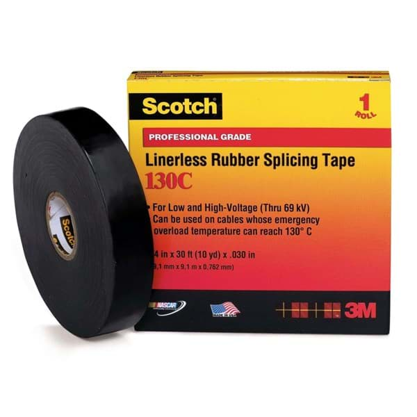"Picture of Tape Electrical 3/4"" x 30' 130 C Splicing 3M"