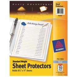 Picture of Avery Products Standard Weight Sheet Protector
