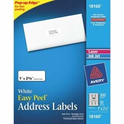 Picture of Inkjet White Mailing Labels