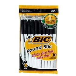 Picture of Bic Round Stic Ball Pen - Black