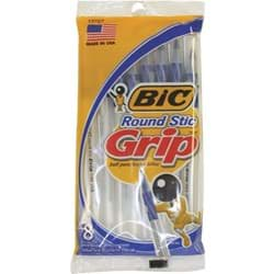 Picture of Bic Round Stic Grip Pen - Blue