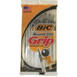 Picture of Bic Round Stic Grip Pen - Black