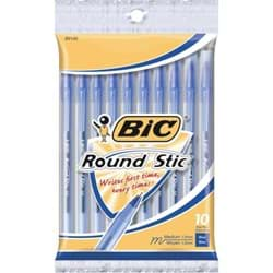 Picture of Bic Round Stic Ball Pen - Blue 10pk