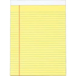 "Picture of Staples Yellow Legal Pad - 8-1/2"" x 11"""