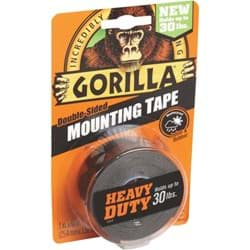 Picture of Gorilla Double-Sided Mounting Tape - Black - 30lbs