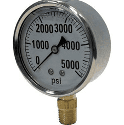 "Picture of Gauge Liquid Filled 4"" Steel Stainless – 5Kpsi"