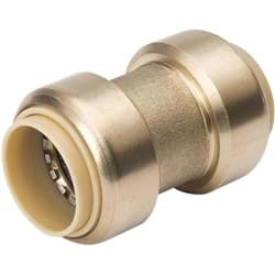 "Picture of ProLine Brass Push Fit X Push Fit Coupling - 3/4"" PF x 3/4"" PF"