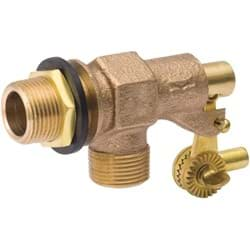 "Picture of B & K Stock Tank Float Valve Dual Inlet Thread - 1/2"" MIP"