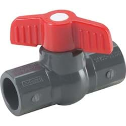 "Picture of PVC Schedule 80 Grey Ball Valve Solvent Weld - 1/2"" S X 1/2"" S"