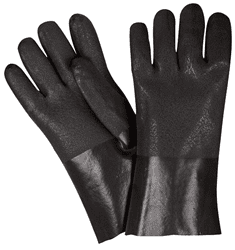 Picture of Glove Chemical PVC Rough Grip Black 12""