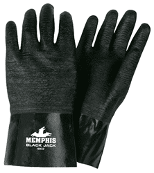 Picture of Glove Chemical Neoprene Rough Grip Black
