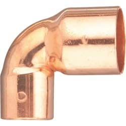 "Picture of Elkhart Reducing 90 Degree Copper Elbow - 3/4"" X 1/2"""