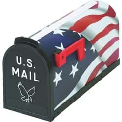 Picture of Flambeau T2 American Flag Post Mount Mailbox