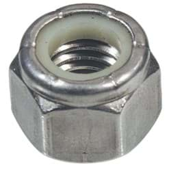 "Picture of Hillman Stainless Steel Course Thread Nylon Insert Lock Nut - 3/8""x16tpi"