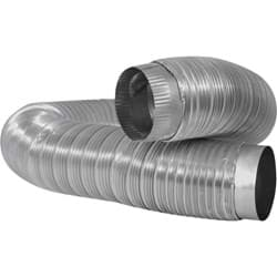 "Picture of Dundas Jafine Aluminum Dryer Duct With Collar - 4"" Dia x 6' L"