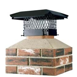 "Picture of Shelter Black Galvanized Chimney Cap - 11.5"" x 16.5"" to 13.25"" x 18.25"""