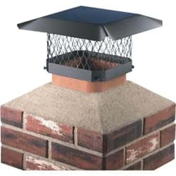 "Picture of Shelter Black Galvanized Chimney Cap - 7.5"" x 11.5"" to 9.5"" x 13.5"""