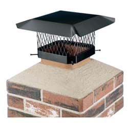 "Picture of Shelter Black Galvanized Chimney Cap - 11.5"" x 11.5"" to 13.5"" x 13.5"""