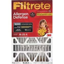 "Picture of 3M Filtrete Allergen Defense Deep Pleat Air Conditioner & Furnace Filter - 16""x25""x4"""