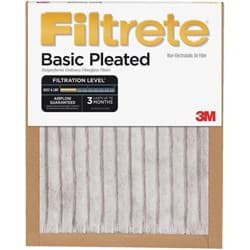 "Picture of 3M Filtrete Basic Pleated Air Conditioner & Furnace Filter - 18""x24""x1"""