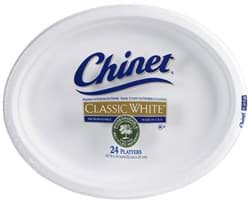 "Picture of Plate Paper Oval 9-3/4""x12-1/2"" Chinet – 125ct."