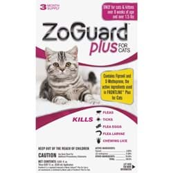 Picture of ZoGuard Plus For Cats Flea & Tick Treatment
