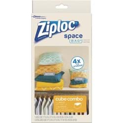 Picture of Ziploc Space Bag Vacuum Seal Cube Combo Storage Bag