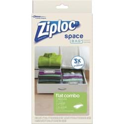 Picture of Ziploc Space Bag Vacuum Seal Flat Combo Storage Bag