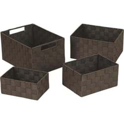 Picture of Home Impressions 4-Piece Woven Storage Basket Set