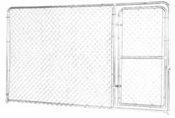 Picture of Fence Master Silver Series Kennel Panel With Door