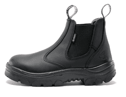 Picture of Hobart Ladies Steel Blue Leather Boots, Black - Size 9 - Wide