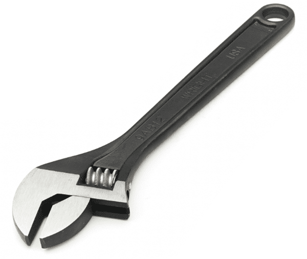 Picture of Adjustable Wrench Black Wright – 8""