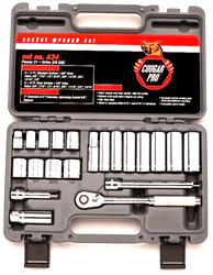 "Picture of Socket Set w/ Ratchet Drive 3/8"" 12 Point Wright – 21pc."
