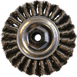"Picture of 4"" Knot Twist Wire Wheel, M10 x 1.25"