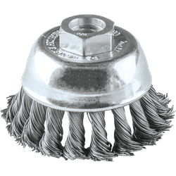 "Picture of 2-3/4"" Knot Wire Cup Brush, 5/8""-11"