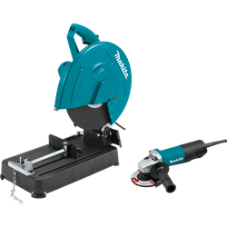 "Picture of 14"" Cut-Off Saw with 4-1/2"" Paddle Switch Angle Grinder"